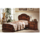 ESF Furniture Milady Twin Panel Bed in Walnut