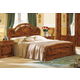 ESF Furniture Milady Queen Panel Bed in Walnut