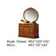 ESF Furniture Milady Single Dresser in Walnut