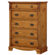 Standard Furniture Georgetown Drawer Chest in Golden Honey Pine 83005