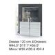 ESF Furniture Granada Dresser 120 in White