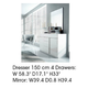ESF Furniture Granada Dresser 150 in White