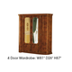 ESF Furniture Milady 4 Door Wardrobe in Walnut