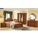 ESF Furniture Milady 4-Piece Panel Bedroom Set in Walnut