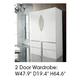 ESF Furniture Granada 2 Door Wardrobe in White