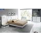 ESF Furniture Granada 4-Piece Platform Bedroom Set in White