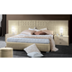 ESF Furniture Moon Queen Platform Bed in Ivory