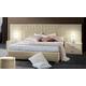 ESF Furniture Moon King Platform Bed in Ivory