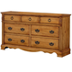 Standard Furniture Georgetown Dresser in Golden Honey Pine 83009