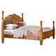 Standard Furniture Georgetown Queen Poster Bed in Golden Honey Pine