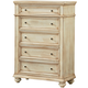 Standard Furniture Chateau Drawer Chest in Bisque Paint 82855