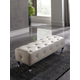 ESF Furniture 622 Penelope Bench B5 in White