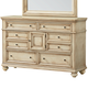 Standard Furniture Chateau Dresser in Bisque Paint 82859