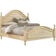 Standard Furniture Chateau Queen Poster Bed in Bisque Paint