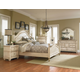 Standard Furniture Chateau Poster Bedroom Set in in Bisque Paint