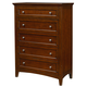 Standard Furniture Cooperstown Drawer Chest in Sheen Spiced Cherry 93805