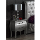 ESF Furniture 623 Lorena Nightstand M95 in Silver