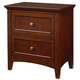 Standard Furniture Cooperstown Nightstand with USB Port in Sheen Spiced Cherry 93807