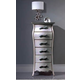 ESF Furniture 623 Lorena Chest S95 in Silver