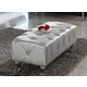 ESF Furniture 623 Lorena Bench B5 in Silver