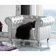 ESF Furniture 623 Lorena Armchair B7 in Silver