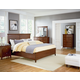 Standard Furniture Cooperstown Panel Bedroom Set in Sheen Spiced Cherry