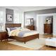 Standard Furniture Cooperstown Panel Bedroom Set in Sheen Spiced Cherry