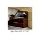 ESF Furniture Onda 2 Drawer Nightstand in Walnut