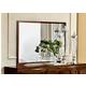 ESF Furniture Onda Mirror in Walnut