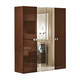 ESF Furniture Onda 4 Door Wardrobe in Walnut