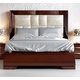 ESF Furniture Carmen King Upholstered Platform Bed in Walnut