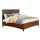 Standard Furniture Cooperstown King Panel Storage Bed in Sheen Spiced Cherry