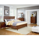 Standard Furniture Cooperstown Panel Storage Bedroom Set in Sheen Spiced Cherry