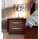 ESF Furniture Carmen 2 Drawer Nightstand in Walnut