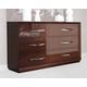 ESF Furniture Carmen Double Dresser in Walnut