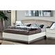 ESF Furniture Onda Queen Platform Bed in White