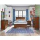 Standard Furniture Cooperstown Youth Panel Bedroom Set in Sheen Spiced Cherry