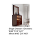 ESF Furniture Carmen Single Dresser in Walnut