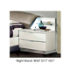ESF Furniture Onda 2 Drawer Nightstand in White