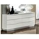 ESF Furniture Onda Double Dresser in White