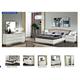 ESF Furniture Onda 4-Piece Platform Bedroom Set in White