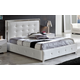 ESF Furniture 624 Coco Queen Platform Storage Bed in White