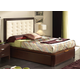 ESF Furniture 515 Alicante Twin Platform Storage Bed in Wenge