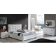 ESF Furniture 624 Coco 4-Piece Platform w/ Storage Bedroom Set in White