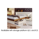 ESF Furniture Elena Queen Platform with Storage Bed in Walnut