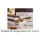 ESF Furniture Elena King Platform with Storage Bed in Walnut