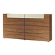 ESF Furniture Elena Double Dresser in Walnut