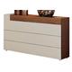 ESF Furniture Elena Single Dresser in Walnut