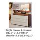 ESF Furniture Elena Mirror in Walnut