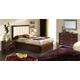 ESF Furniture 515 Alicante Platform Storage Bedroom Set in Wenge